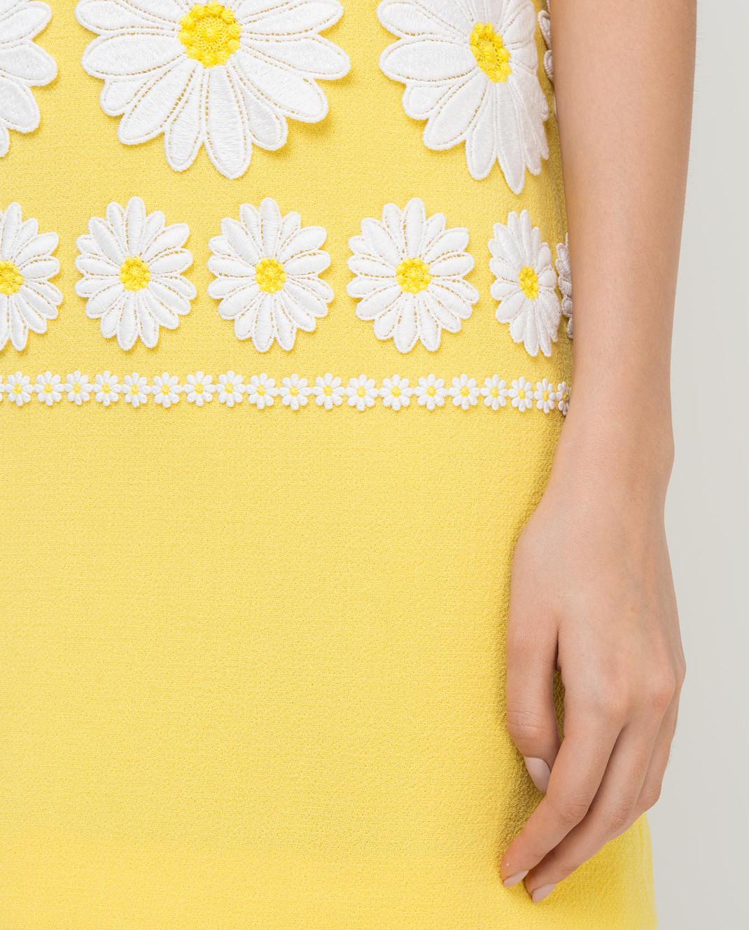 Dolce&Gabbana Желтое платье из шерсти F6UL3ZFU2TZ изображение 5