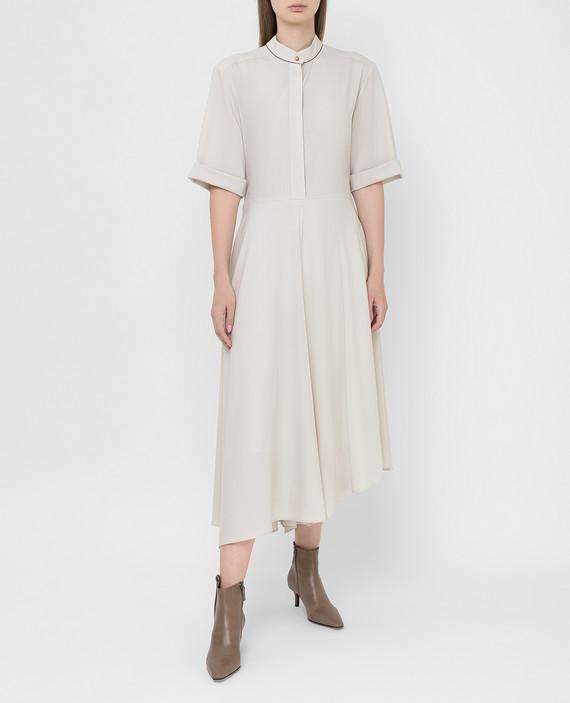 Светло-бежевое платье из шерсти hover