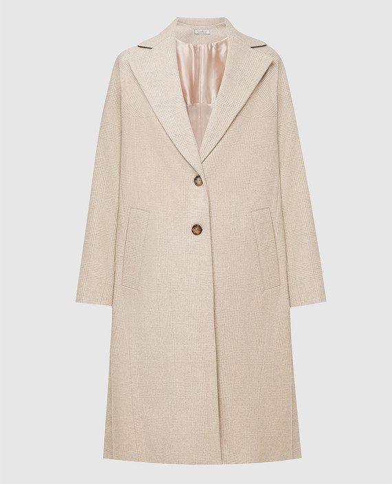Светло-бежевое пальто из шерсти