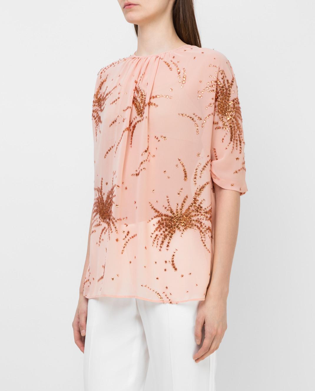 Miu Miu Пудровая блуза MT1296 изображение 3