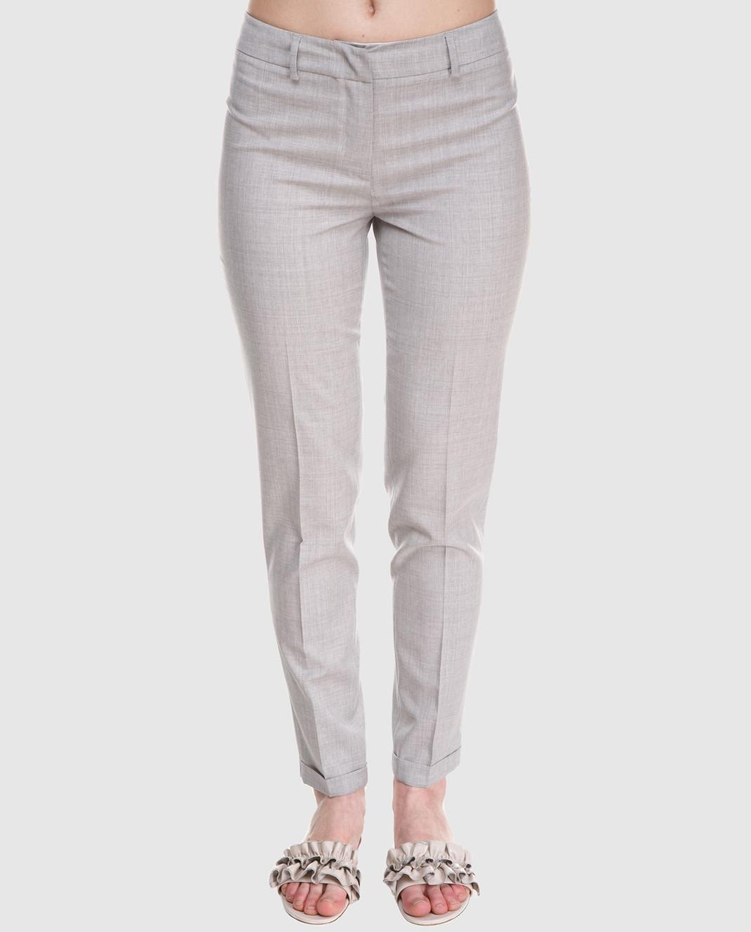 Fabiana Filippi Серые брюки из шерсти PG70118 изображение 3