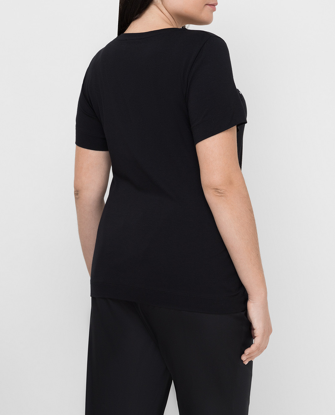 Marina Rinaldi Черная футболка VENTATA изображение 4