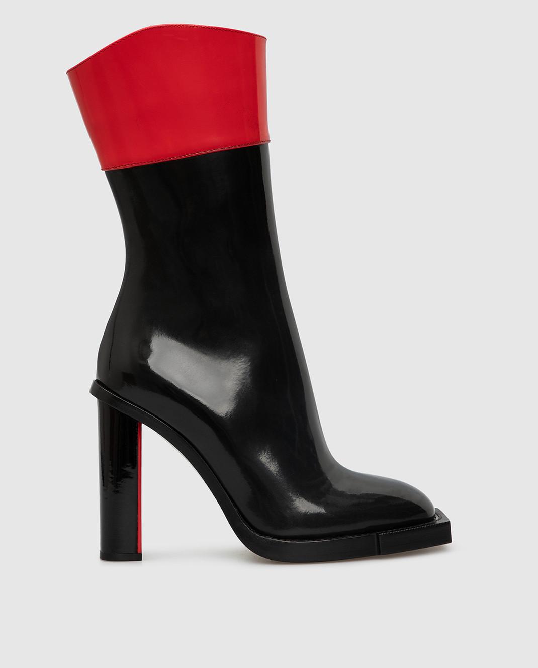 Alexander McQueen Черные кожаные сапоги изображение 1