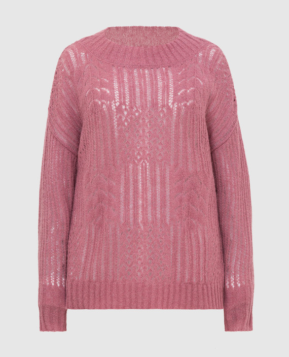 Темно- розовый джемпер
