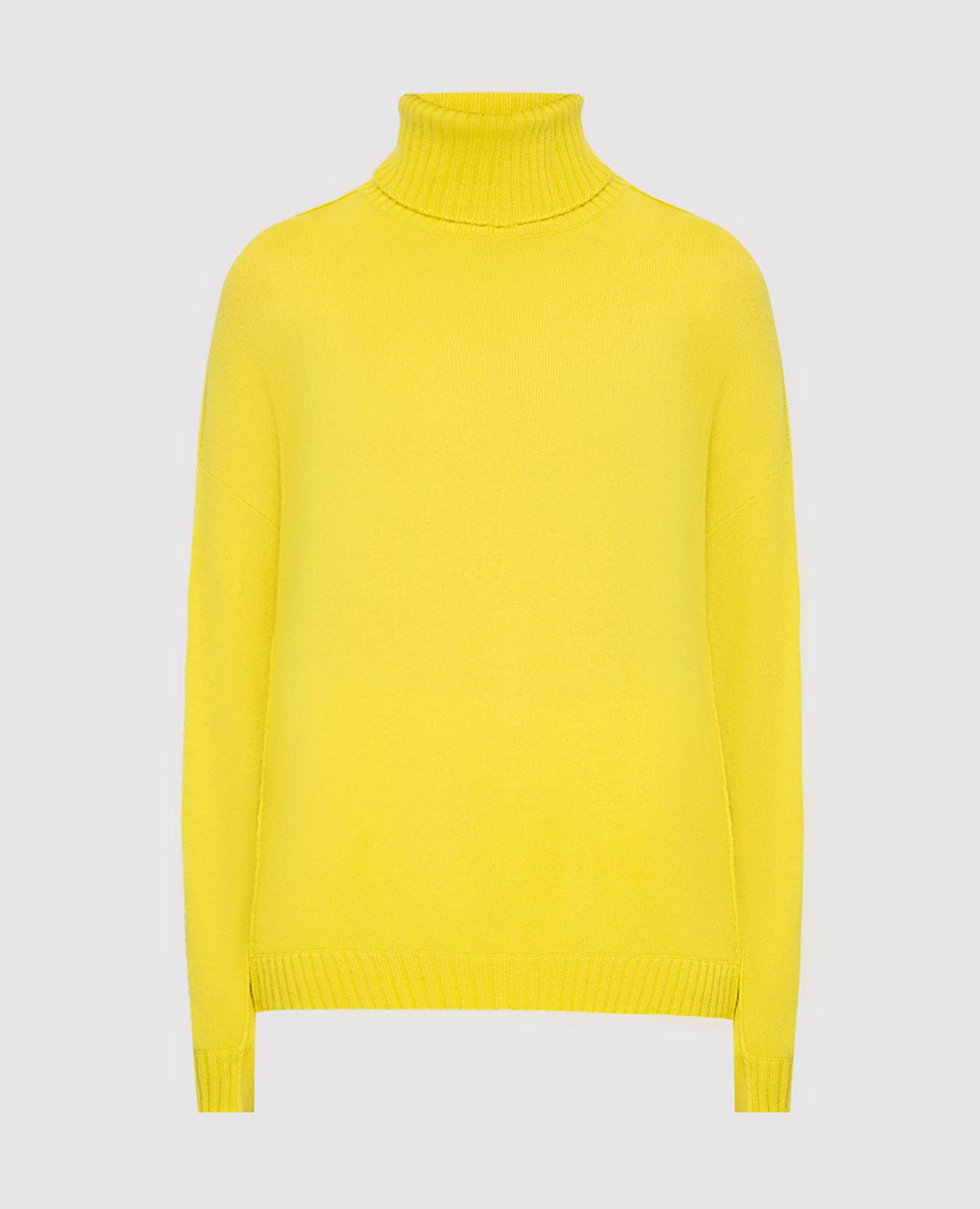 Желтый свитер из шерсти и кашемира