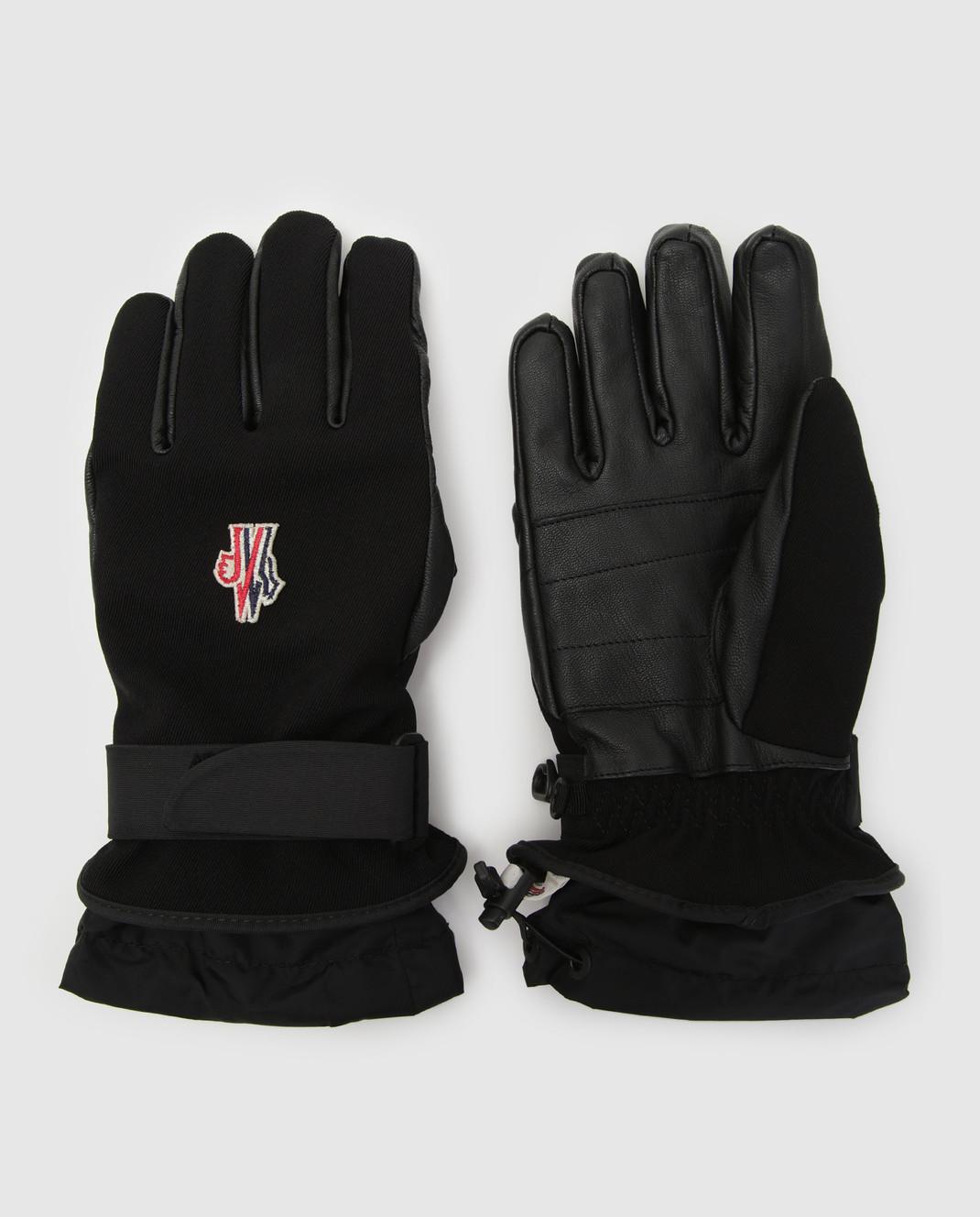 Moncler Grenoble Черные перчатки 00524