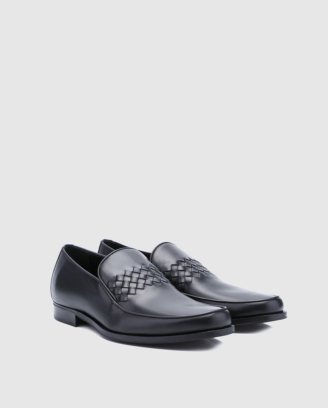 Bottega Veneta Черные кожаные лоферы 496894 изображение 2
