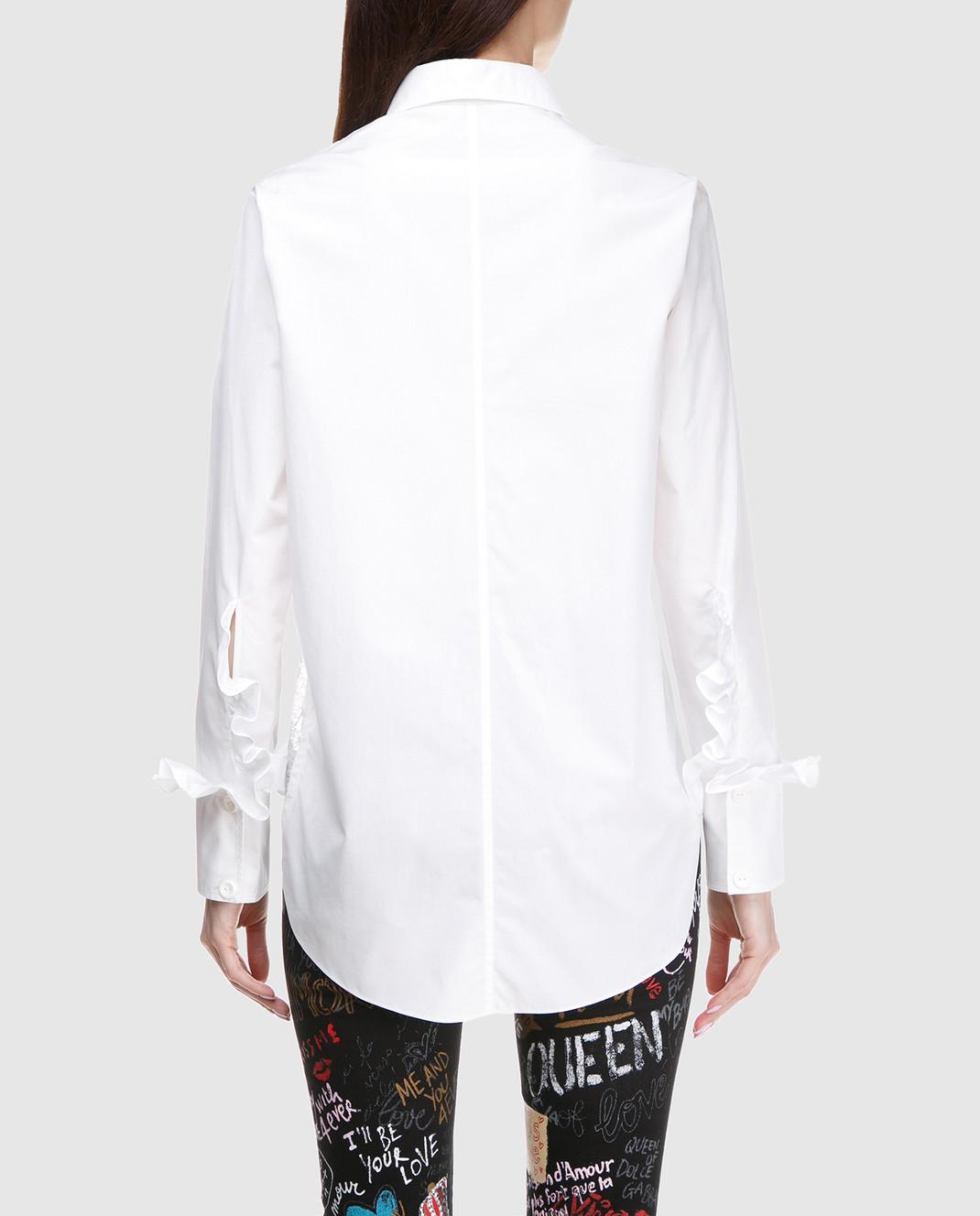 NINA RICCI Белая рубашка с кружевом 17ACT0027C00844 изображение 4