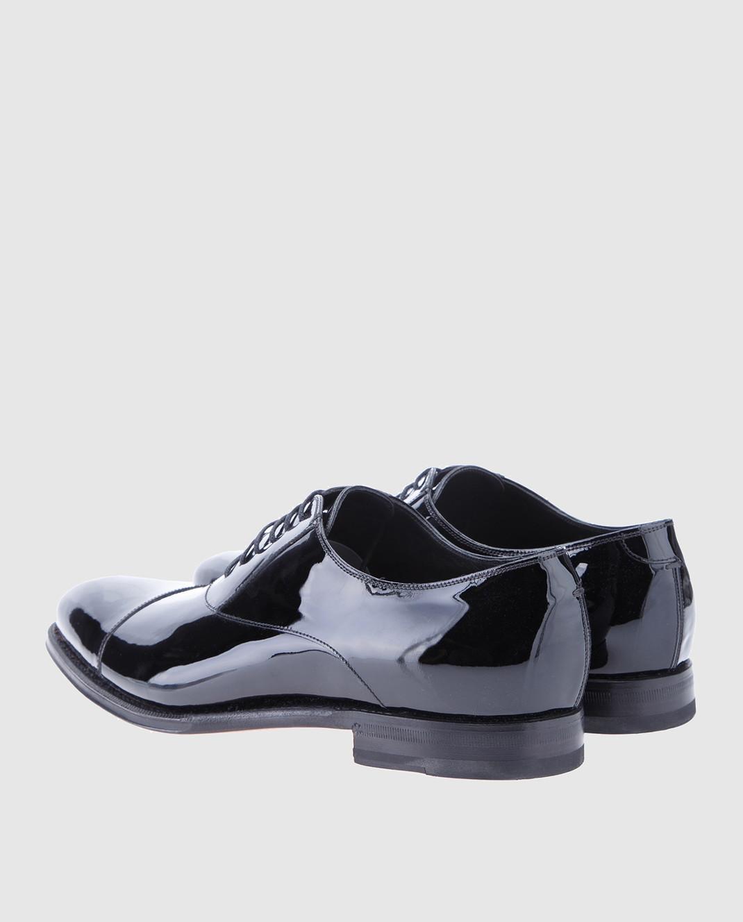 Gucci Черные кожаные оксфорды 457144BNCR0 изображение 3