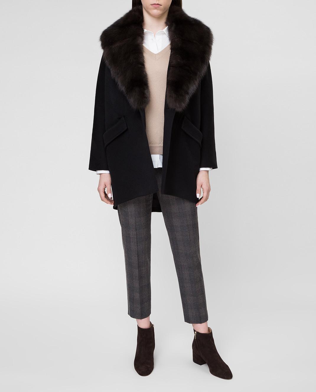 Real Furs House Пальто со съемным мехом QSR433 изображение 2