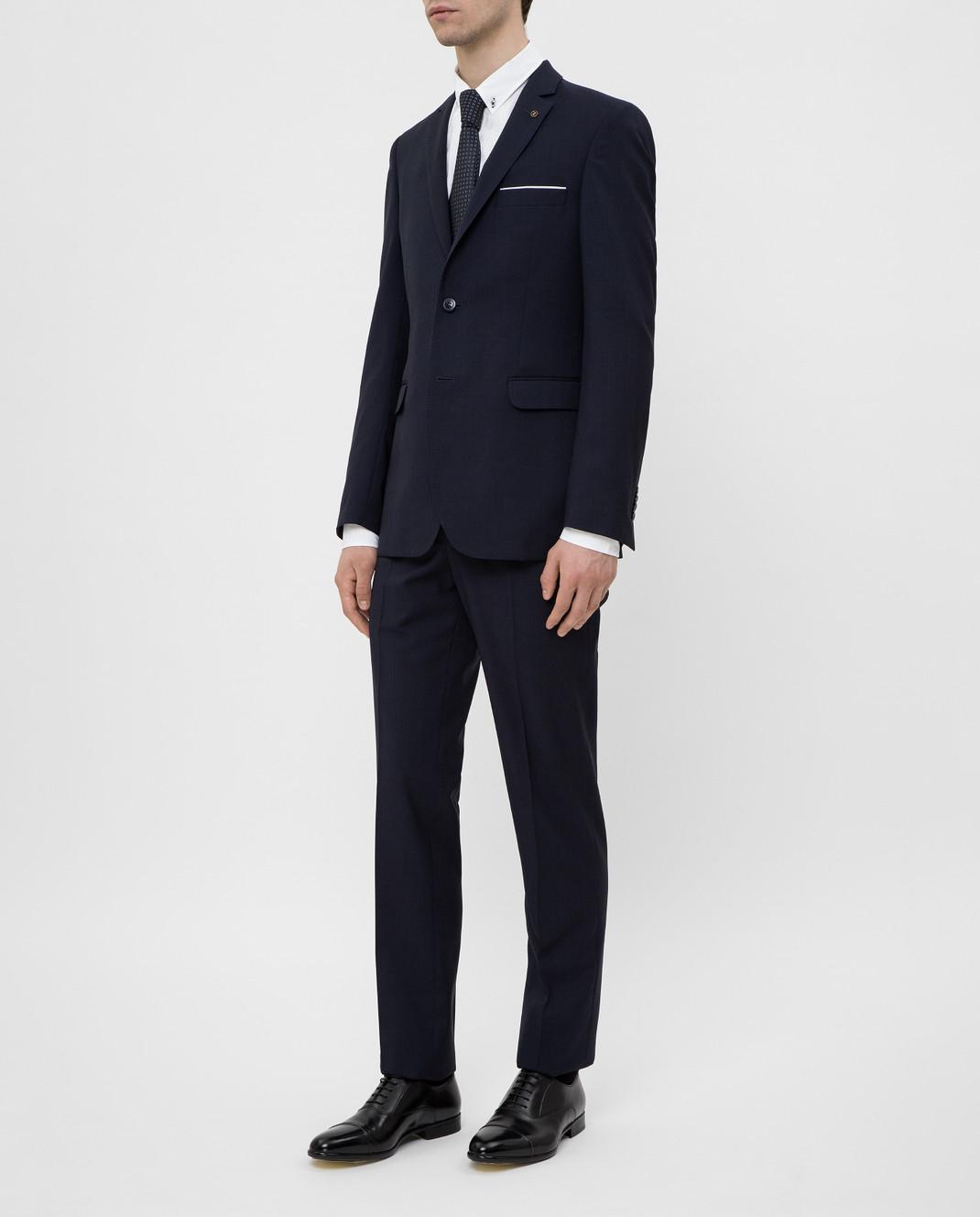 Florentino Темно-синий костюм из шерсти изображение 3