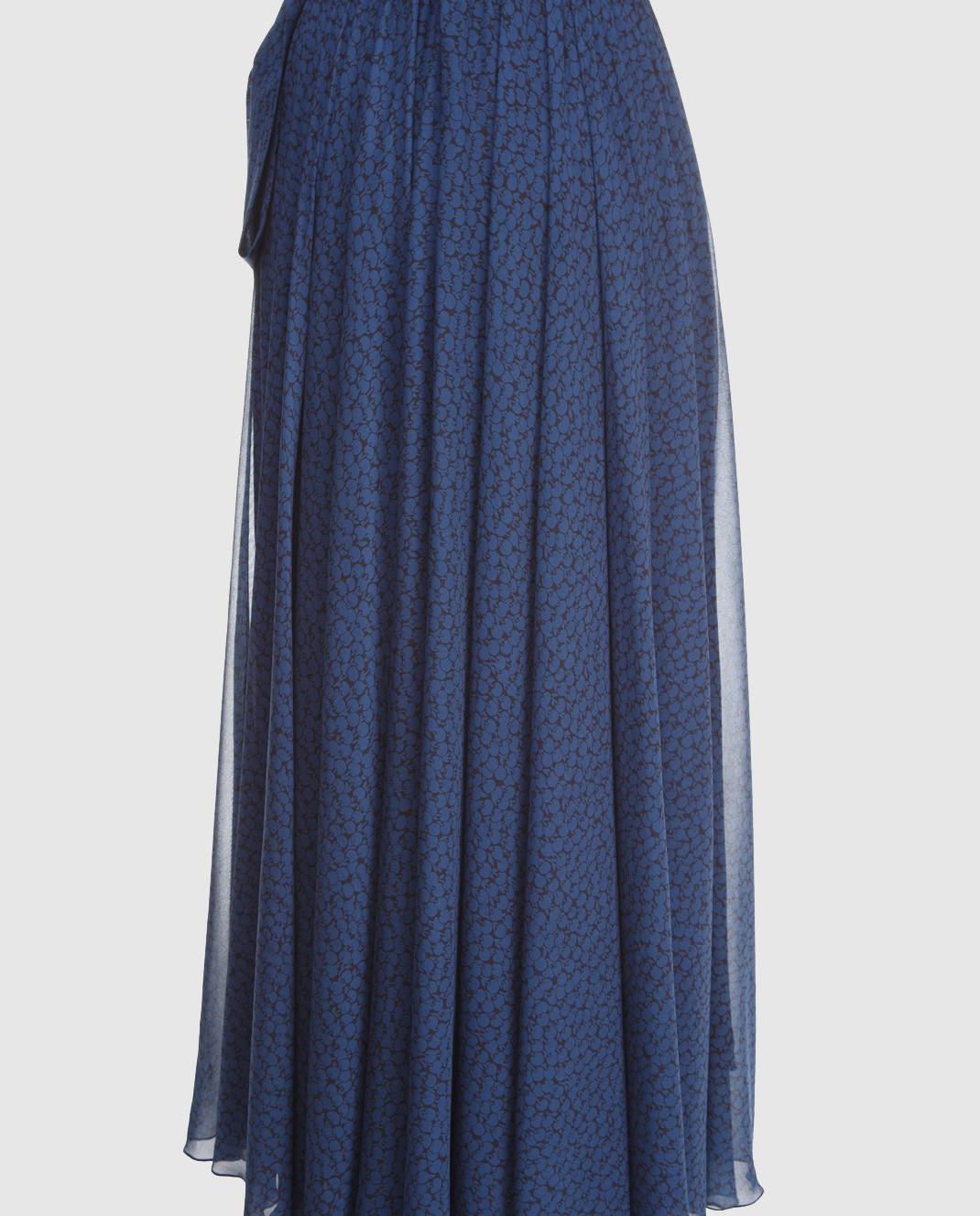 Alexander Terekhov Синяя юбка из шелка SK011 изображение 3