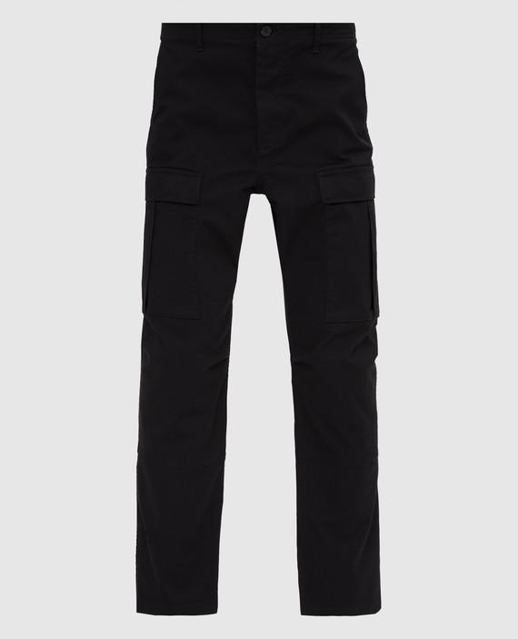 Черные брюки-карго