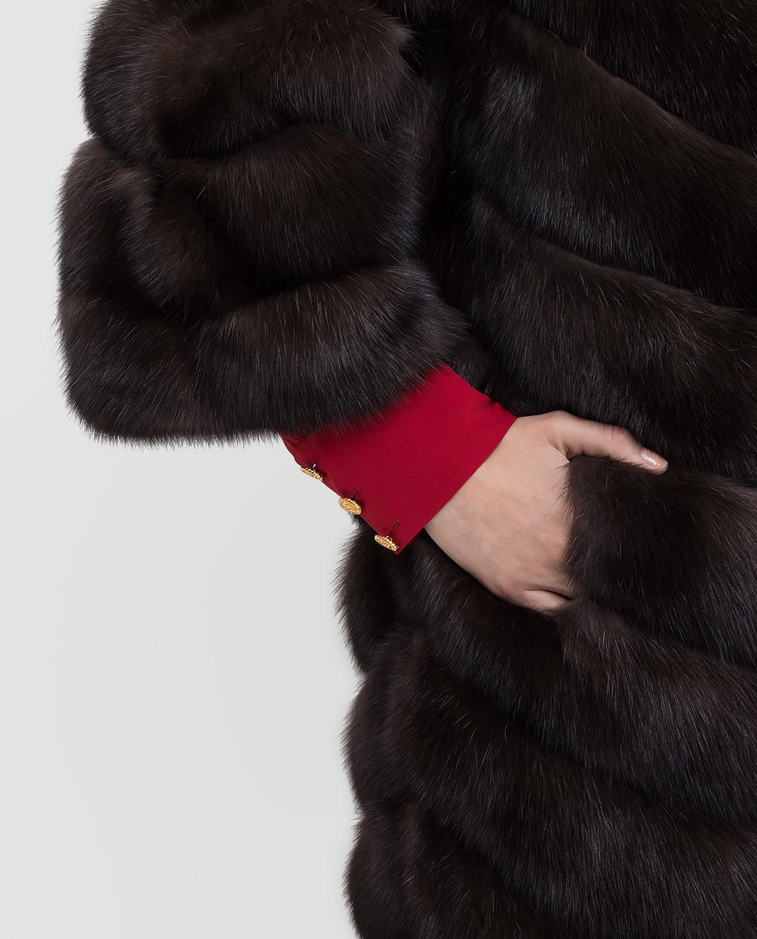 Rindi Темно-коричневая шубка из меха соболя изображение 5