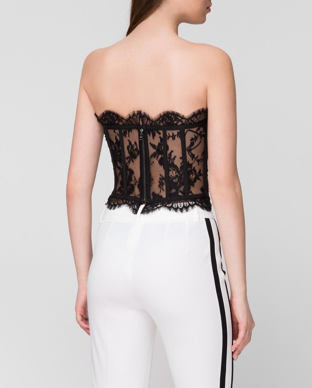 Dolce&Gabbana Черный топ F72X4THLMQJ изображение 4