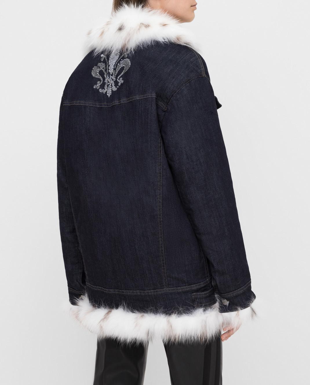Florence Mode Темно-синяя куртка на меху STELLA изображение 4