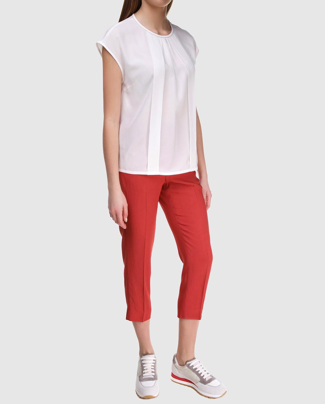 Peserico Красные брюки P04136 изображение 2