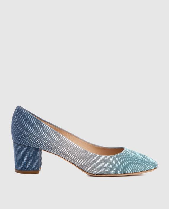 Синие кожаные туфли