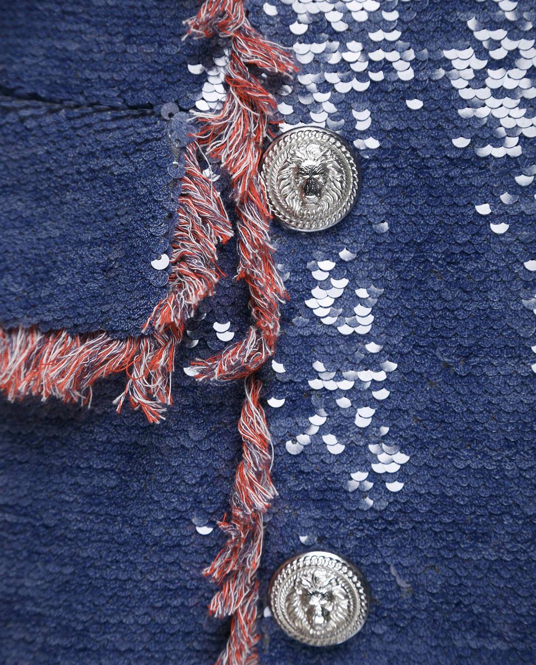 Синее платье с пайетками Balmain 123500 — Symbol