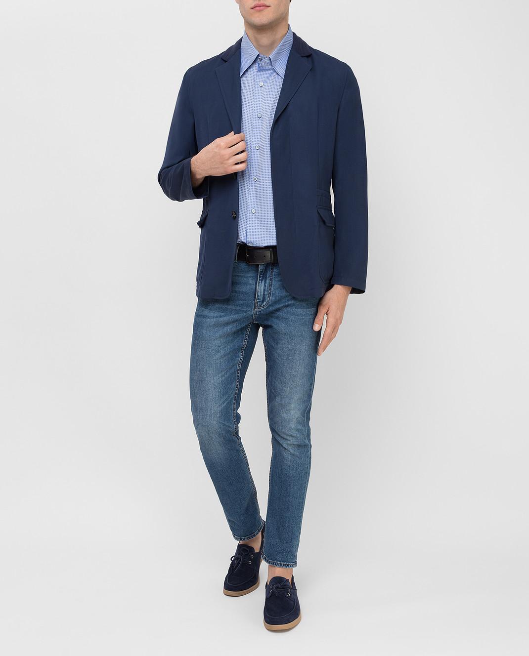Stefano Ricci Голубая рубашка MC0020801553 изображение 2