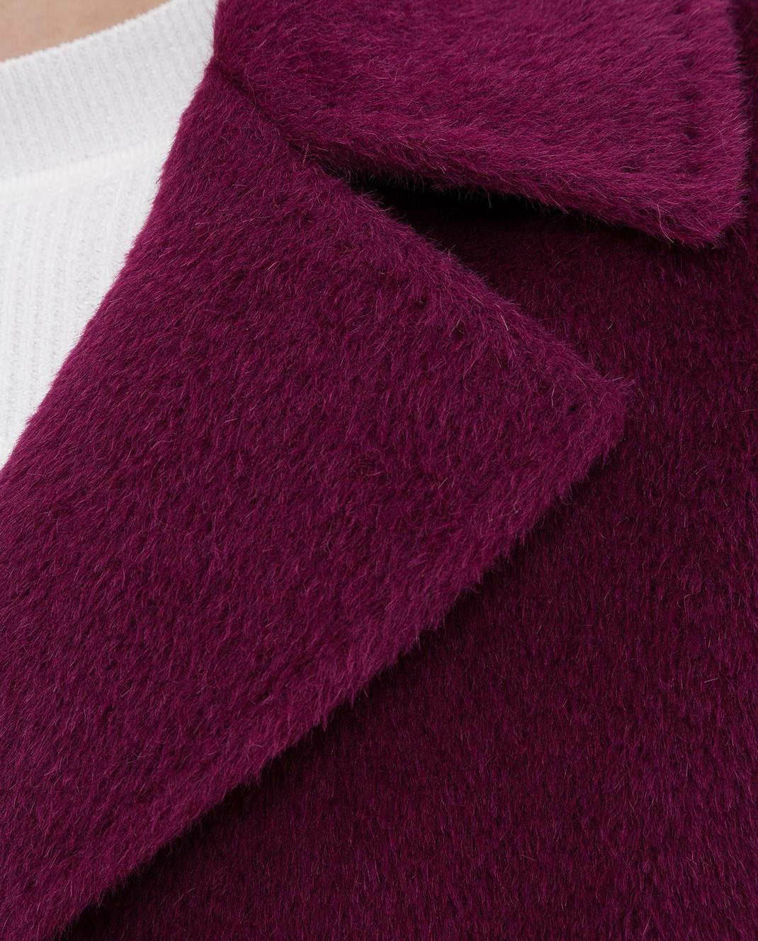Heresis Светло-фиолетовое пальто из ламы и шерсти K8095 изображение 5