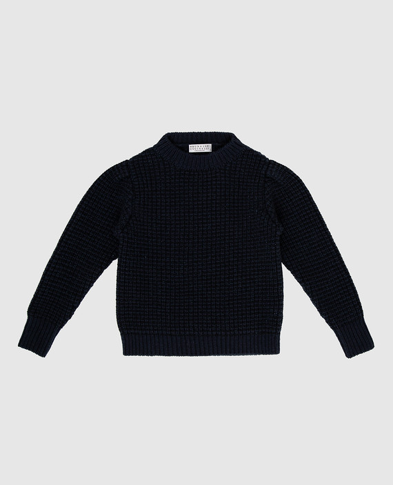 Детский темно-синий свитер
