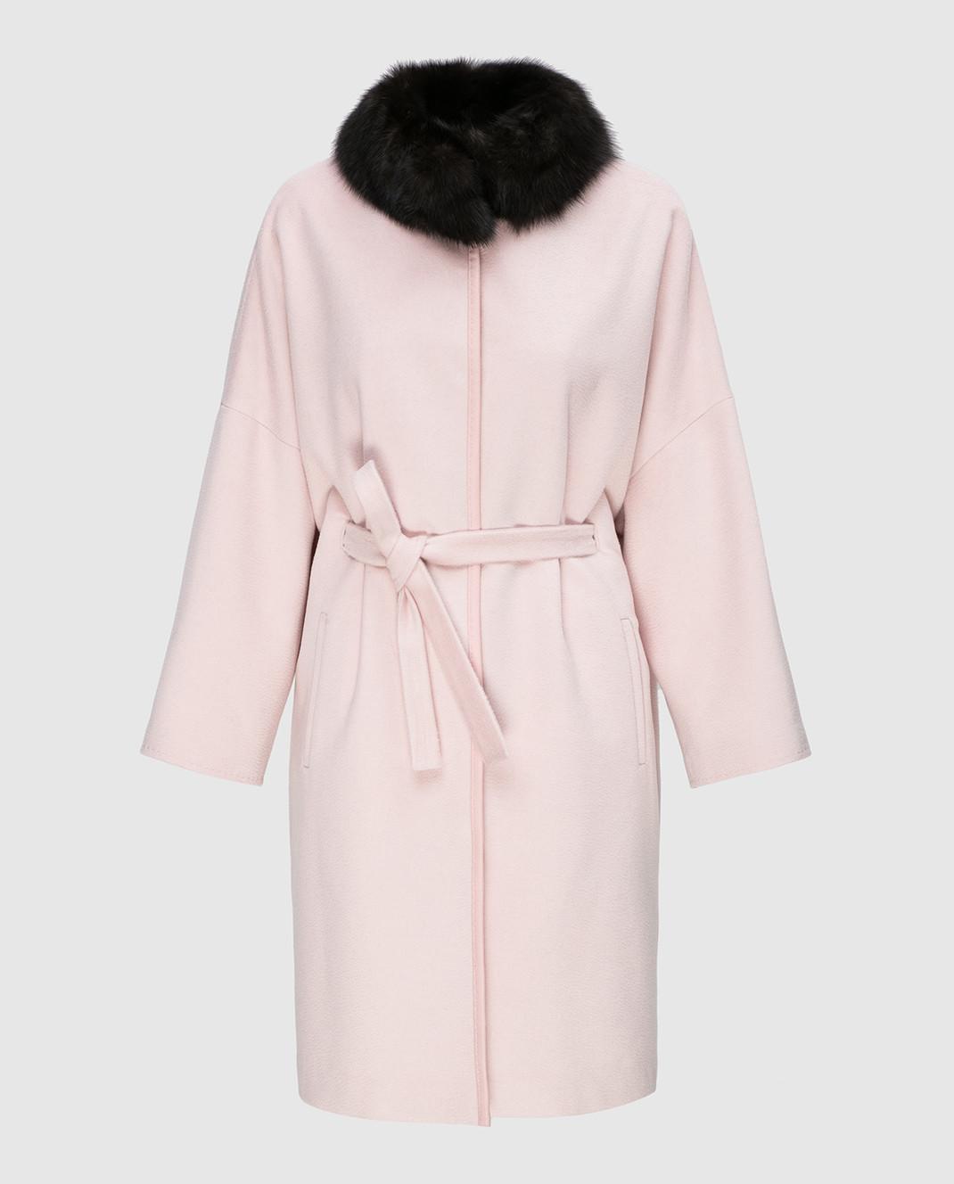 Real Furs House Пудровое пальто CSR7177