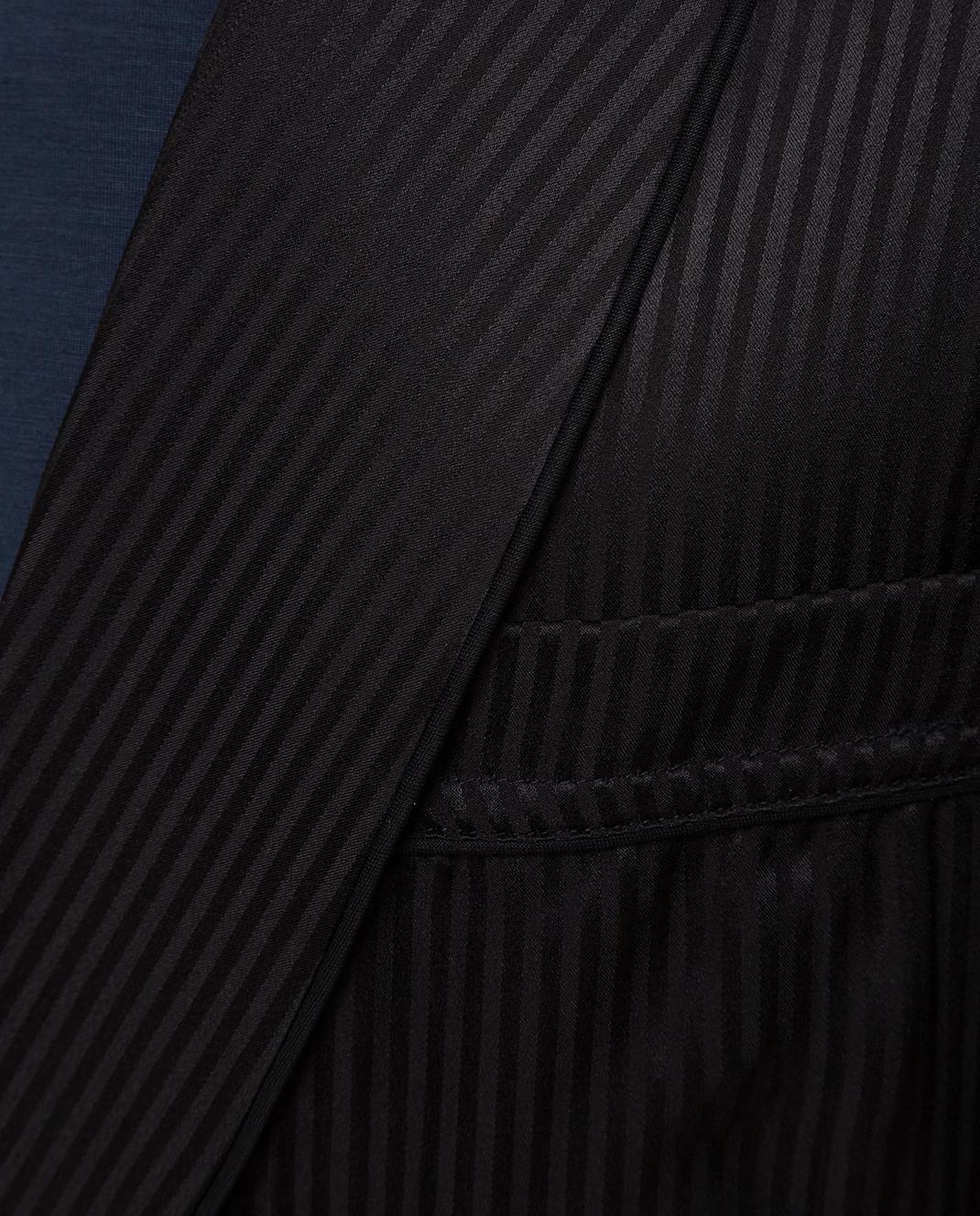Derek Rose Черный халат 5505WOBU008 изображение 5