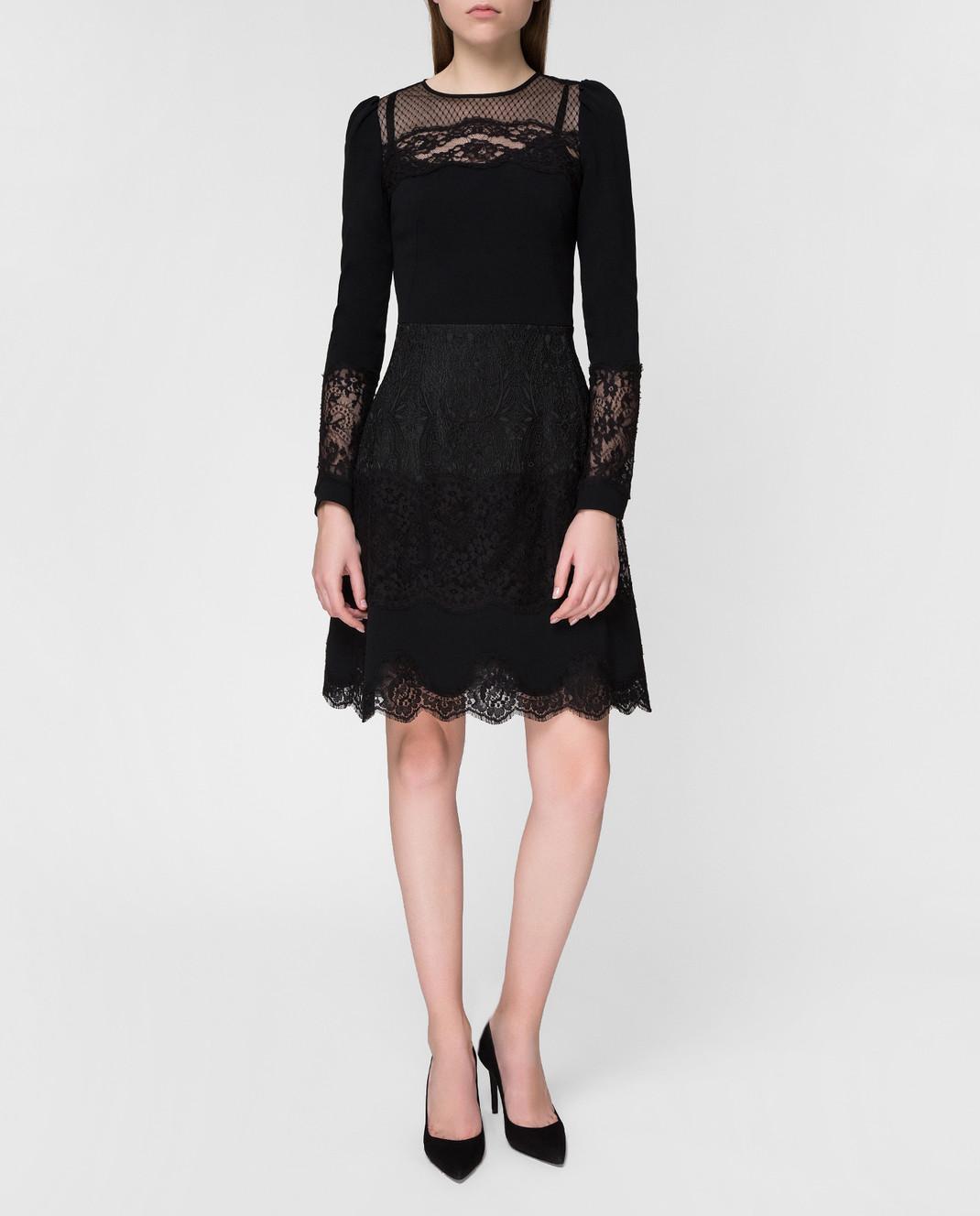 Dolce&Gabbana Черное платье F6C2STFURDV изображение 2