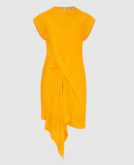 Темно-желтое платье