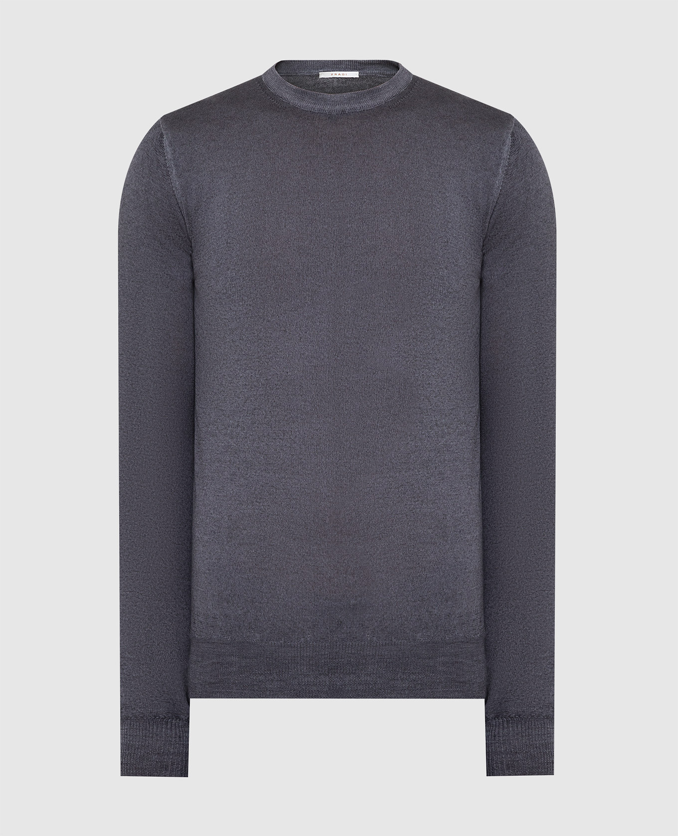 Темно-серый джемпер из шерсти