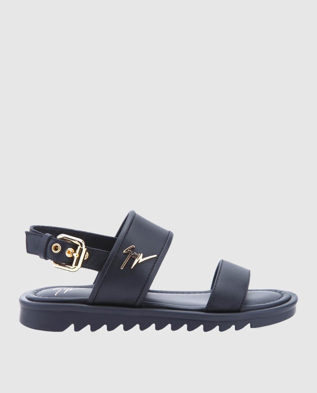 Giuseppe Zanotti Детские черные кожаные сандалии SBE8409001