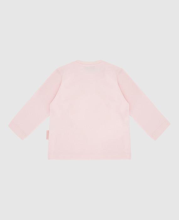 Детский розовый лонгслив hover