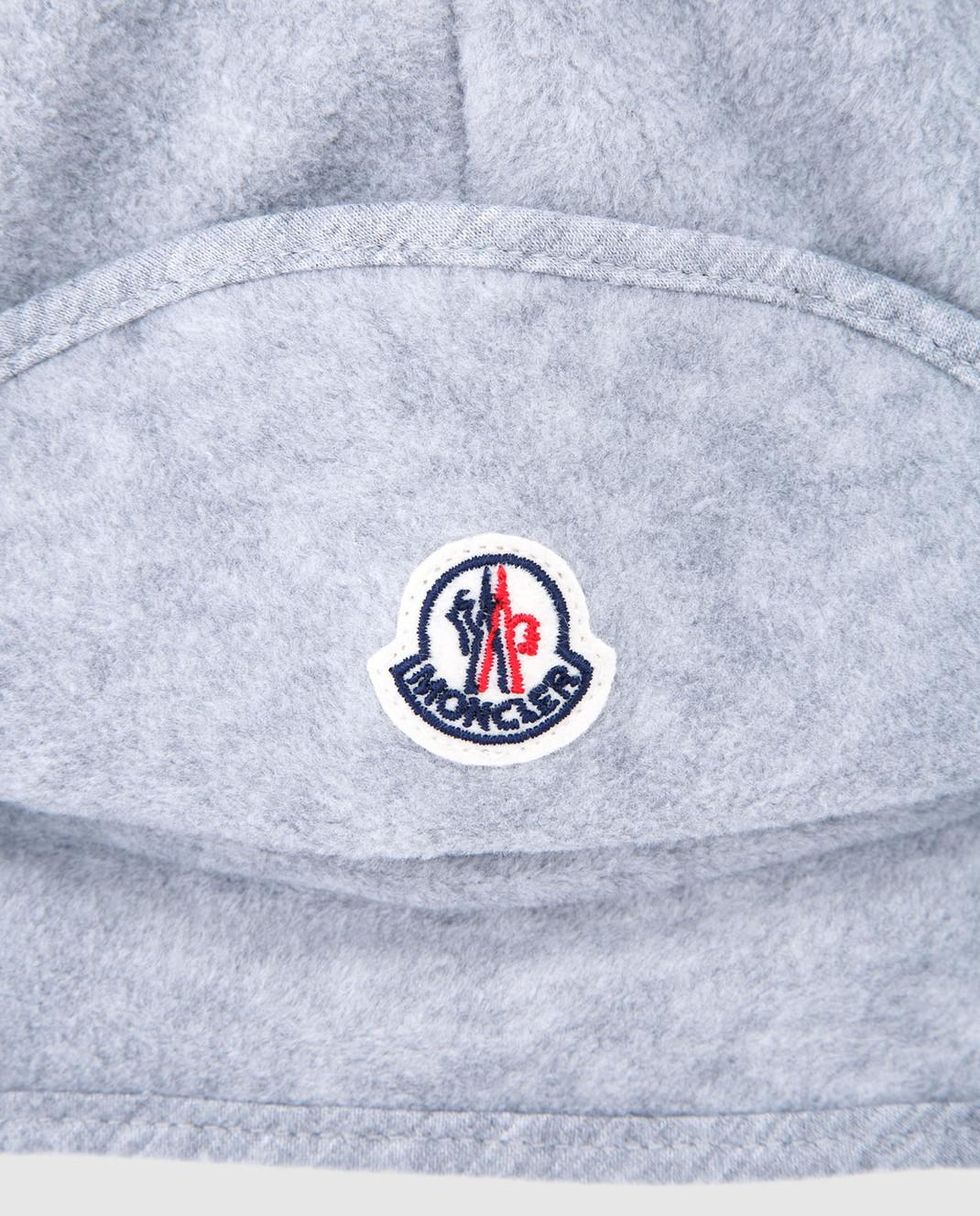 Moncler ENFANT Детская серая шапка 00623 изображение 3