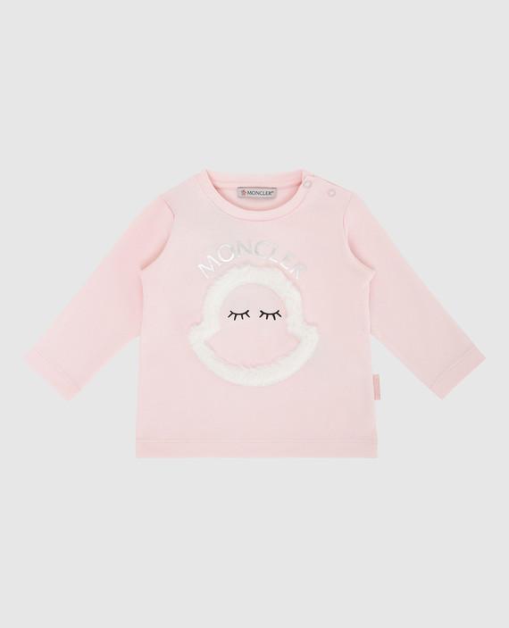 Детский розовый лонгслив