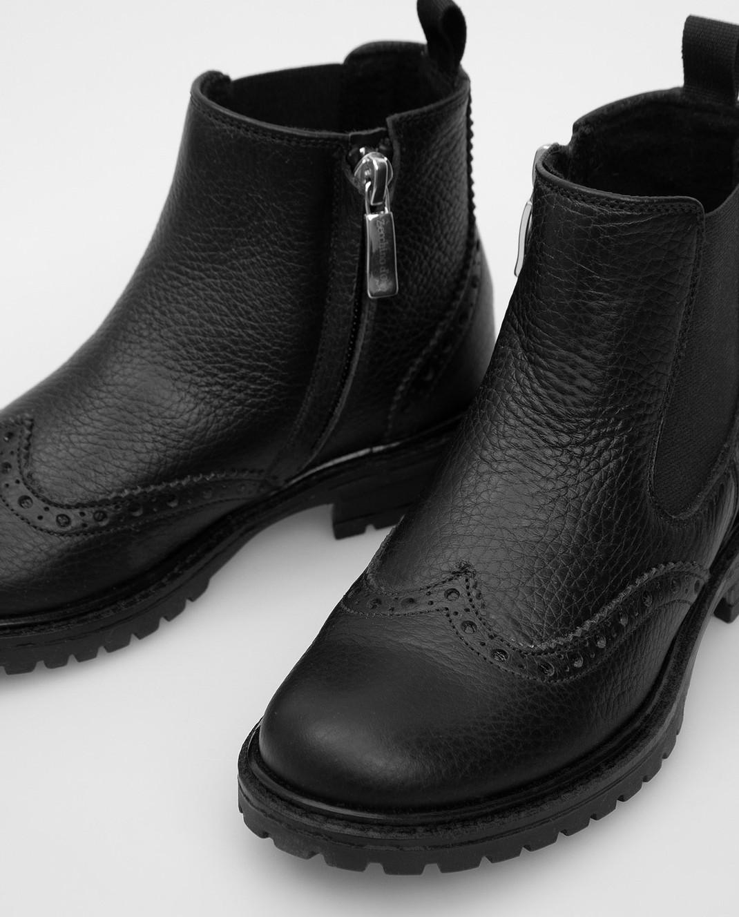 Zecchino D'oro Детские черные челси F0242012729 изображение 4