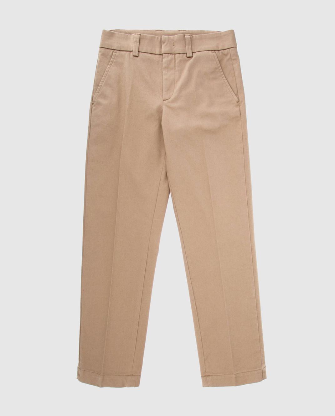 Moncler ENFANT Детские бежевые брюки 110188A10A