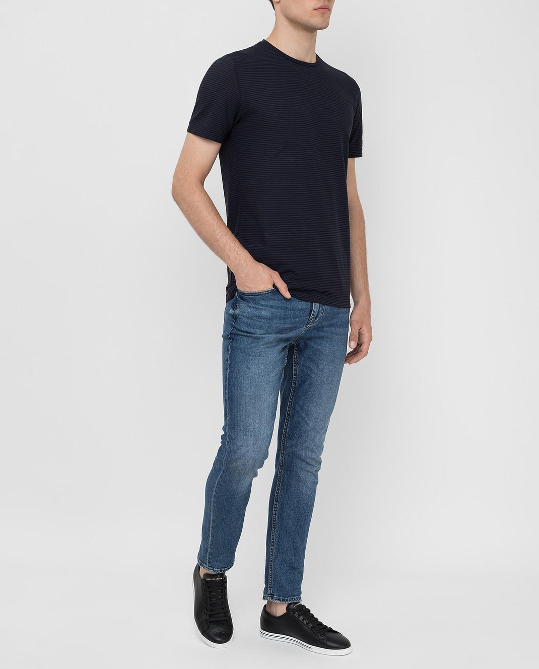 Loro Piana Темно-синяя футболка изображение 2