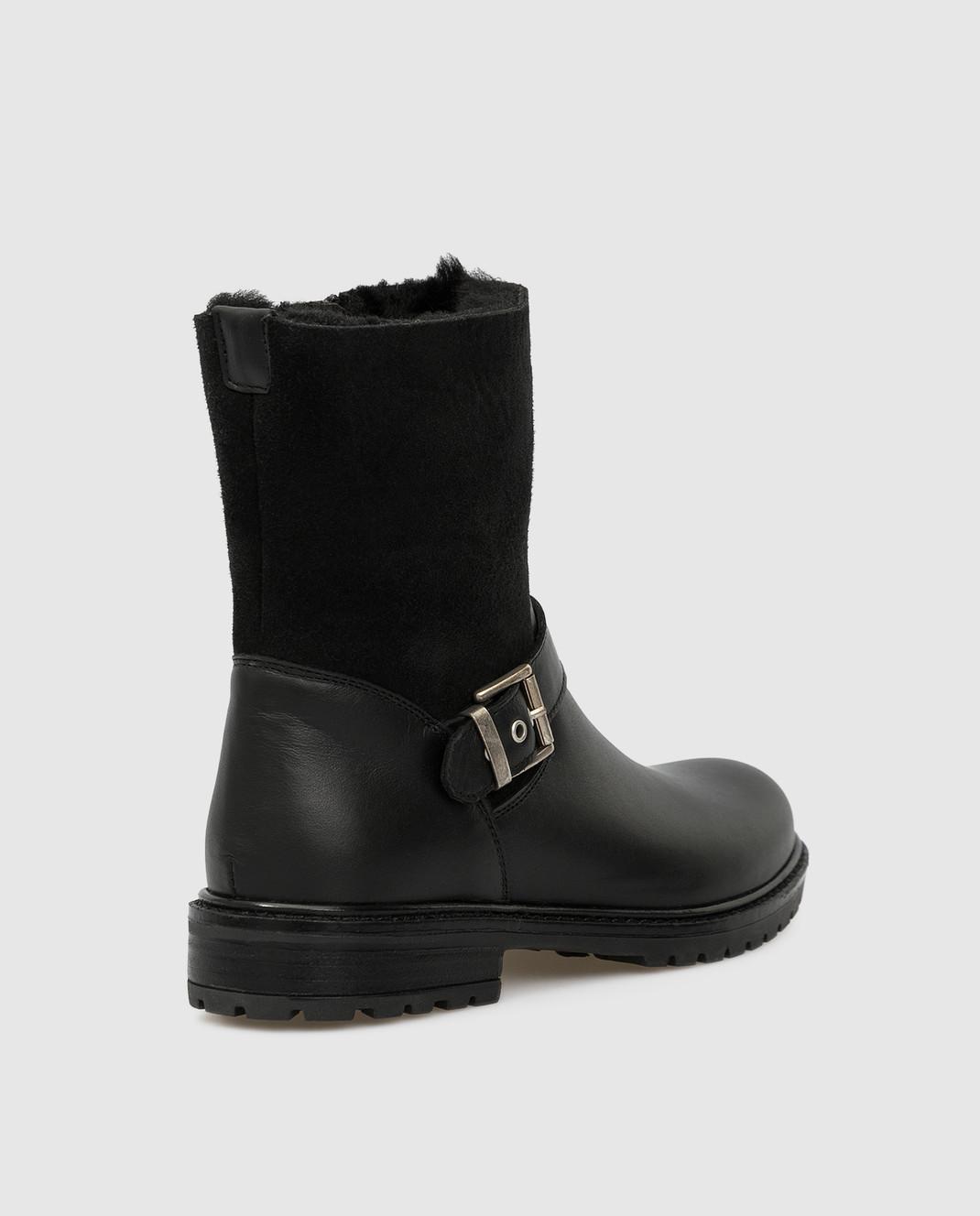 Zecchino D'oro Детские черные сапоги F0242563032 изображение 3