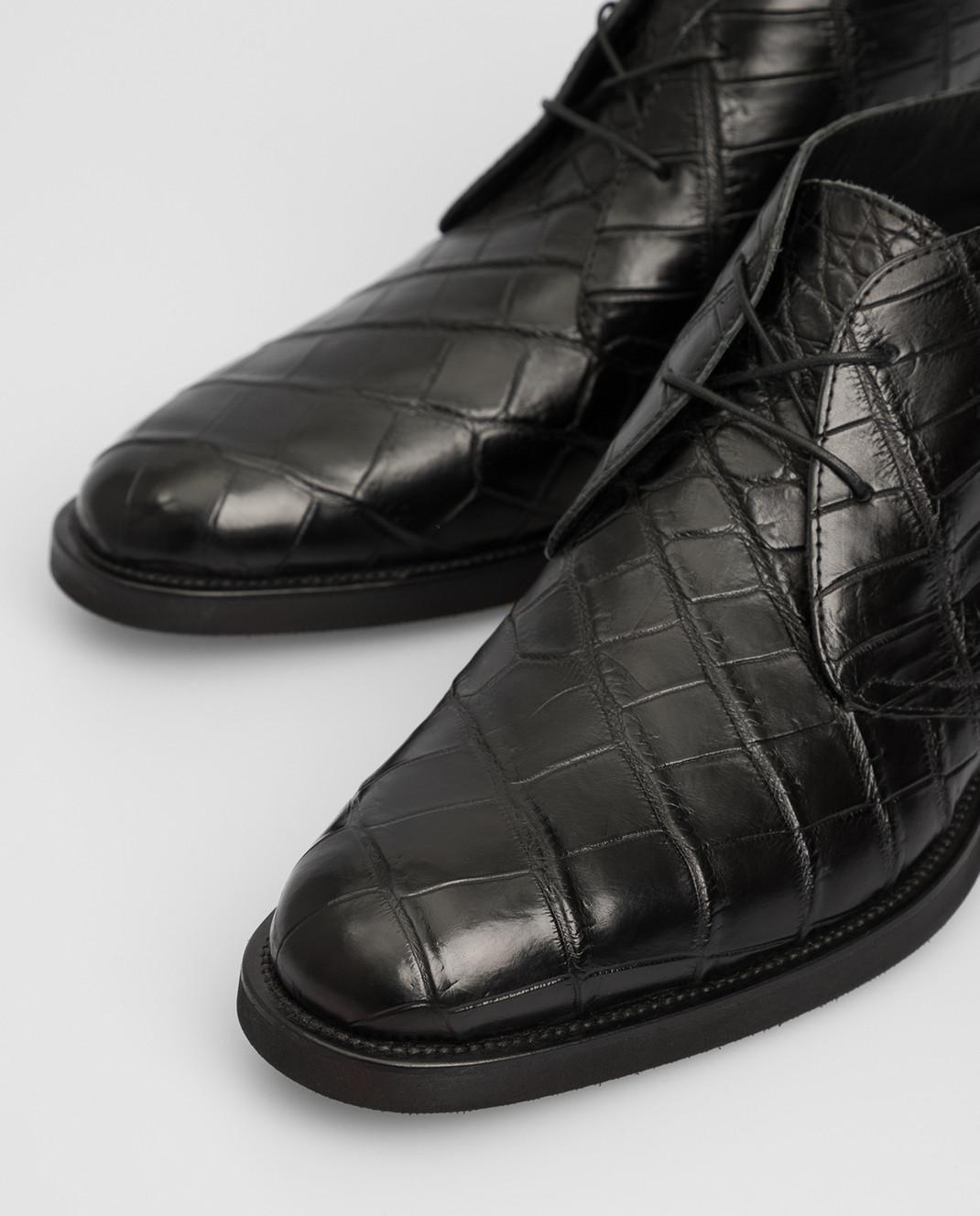 Del Dami Черные дезерты из кожи крокодила 373008 изображение 5