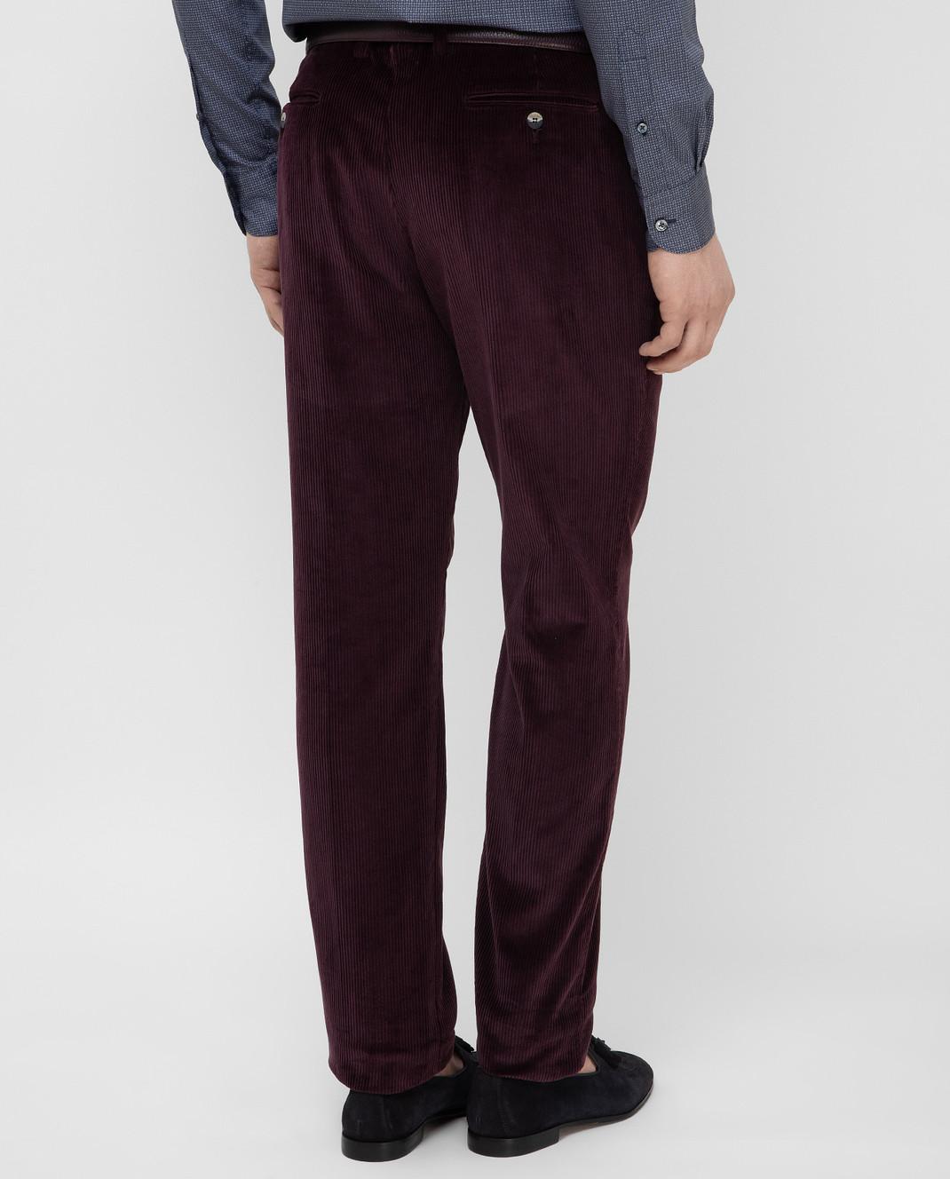 Stile Latino Фиолетовые брюки PUR32RCU13 изображение 4