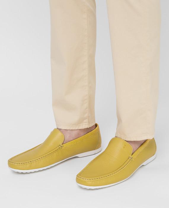Желтые мокасины из кожи оленя hover