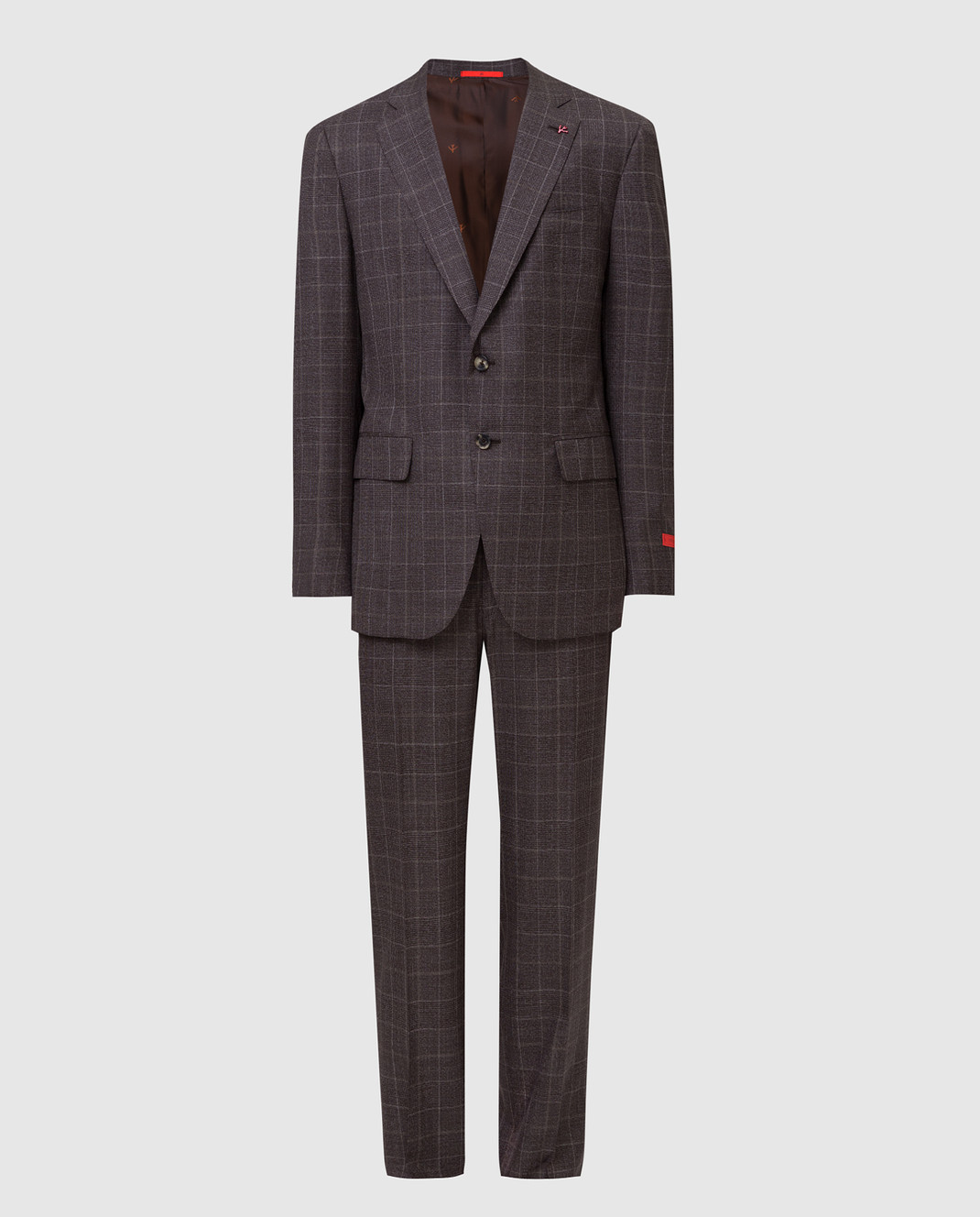 ISAIA Коричневый костюм 224AFI8504X