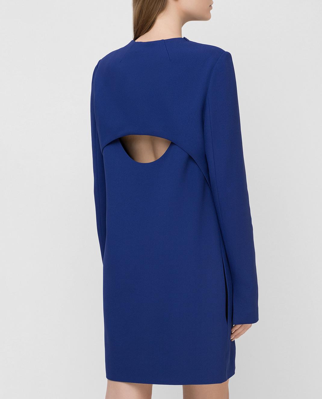 Victoria Beckham Синее платье 517 изображение 4