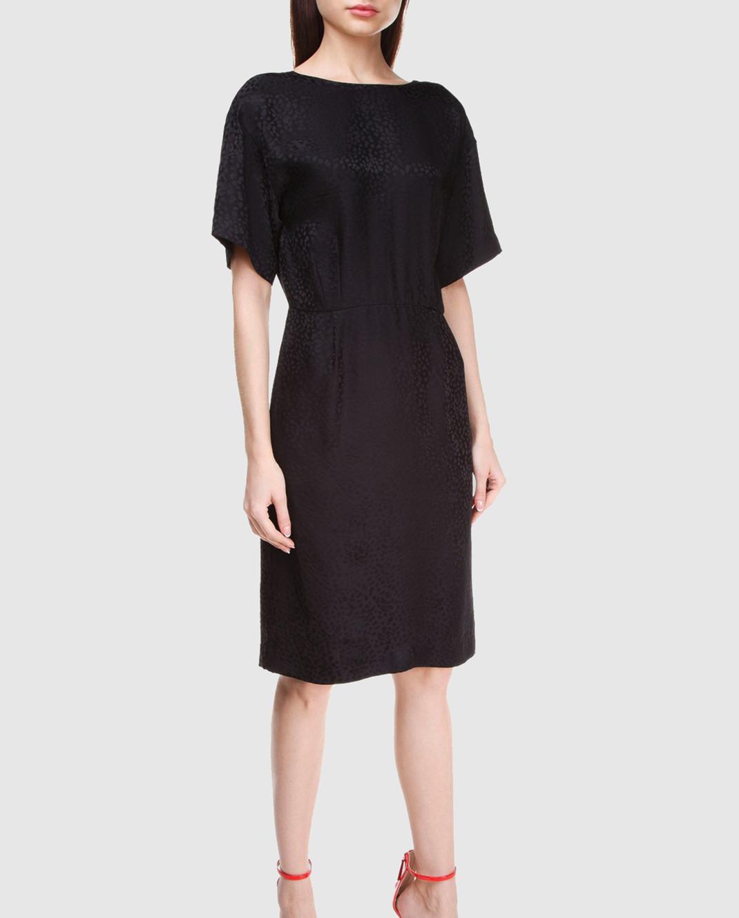 Alexander Terekhov Черное платье из шелка изображение 2