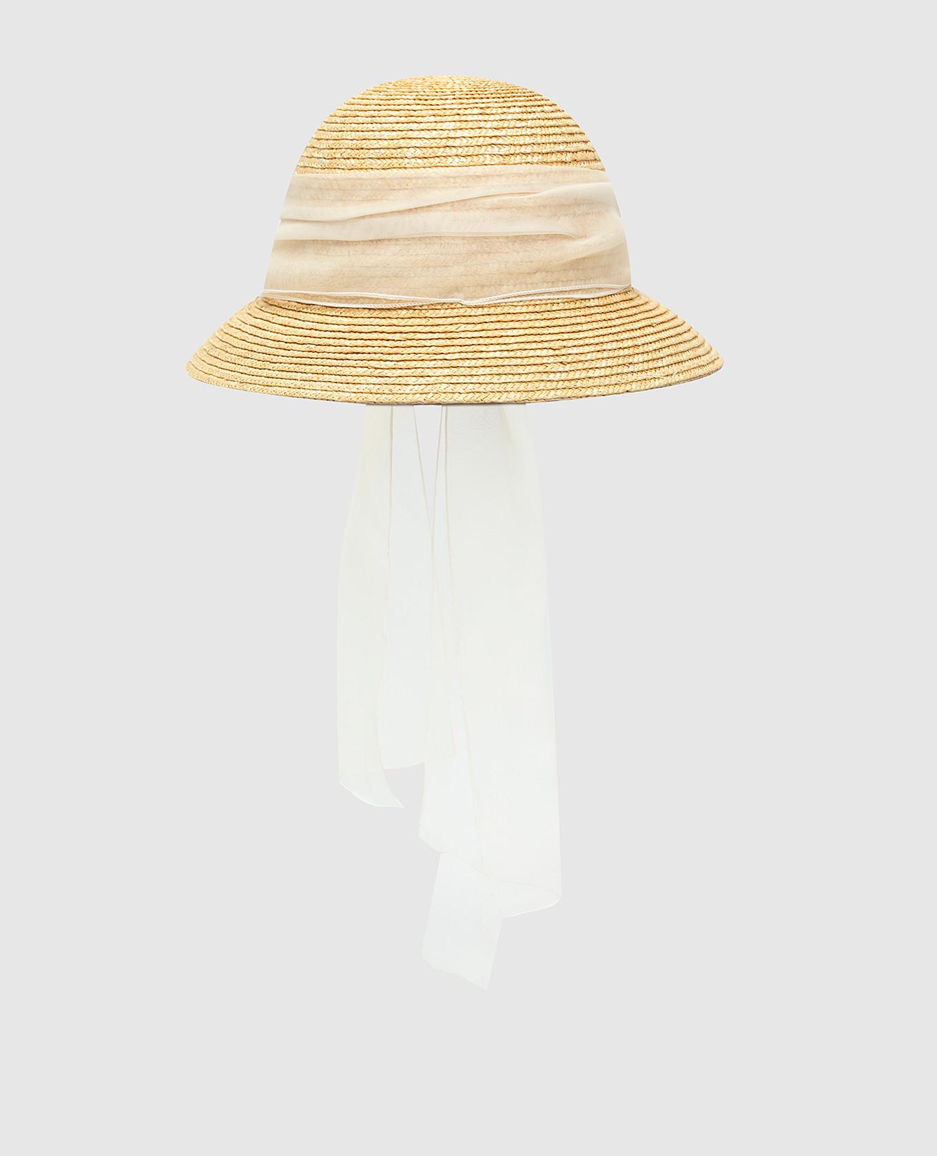 Детская бежевая шляпа