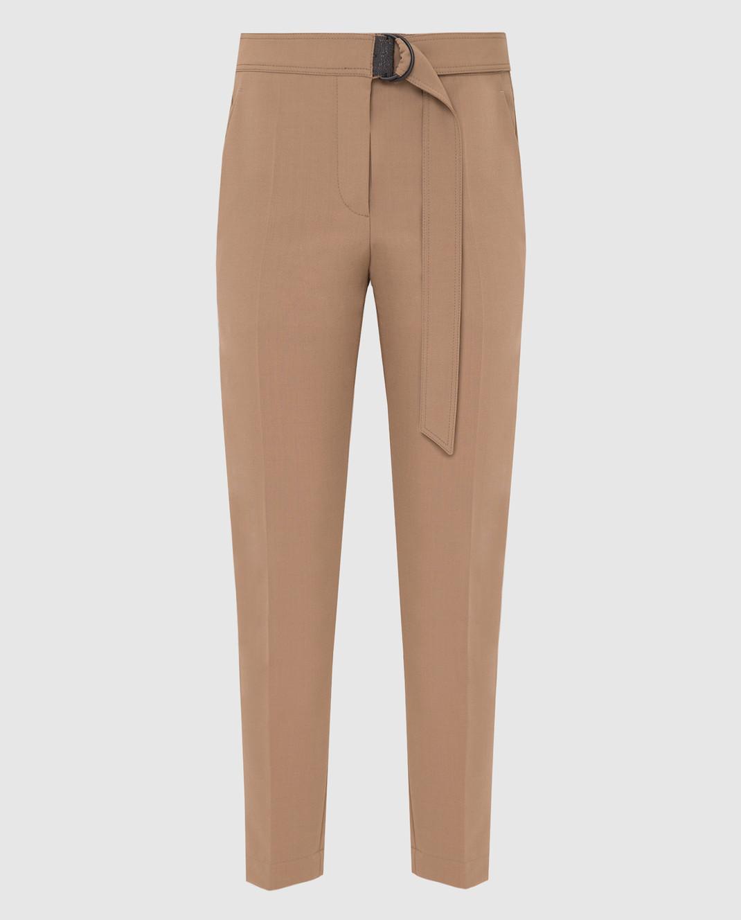 Brunello Cucinelli Бежевые брюки MA124P7227