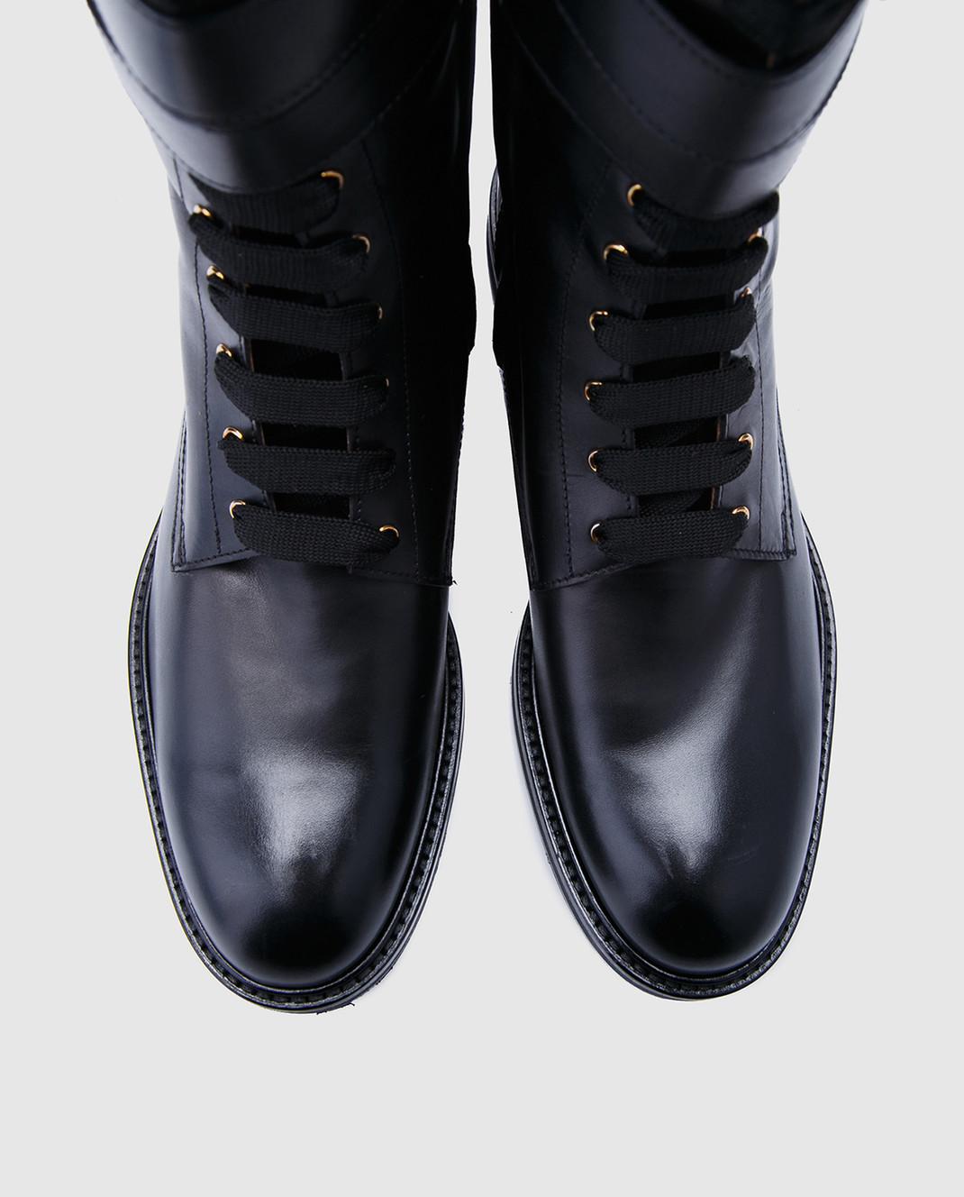 Doucal's Черные кожаные ботинки DD8260SOFIUF063 изображение 4
