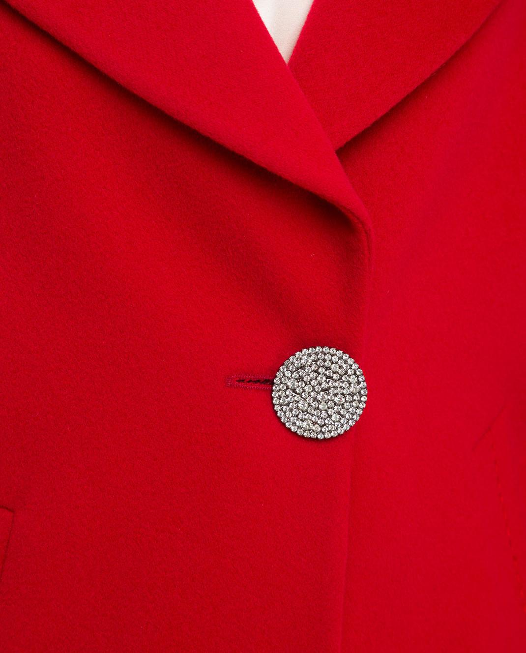 Heresis Красное пальто из шерсти K5270 изображение 5