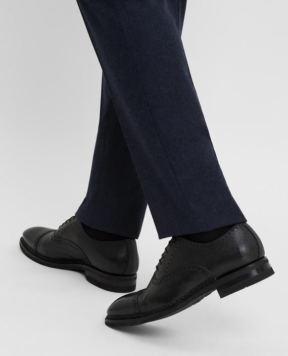 Черные кожаные броги hover